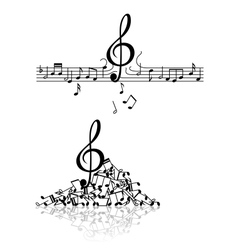 Musical background with spoiled notes vector image