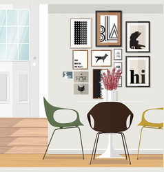 ideas about dining room vector image