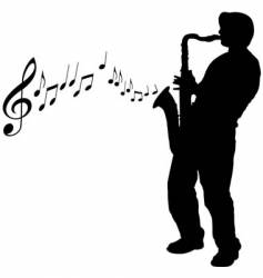 sax guy vector image