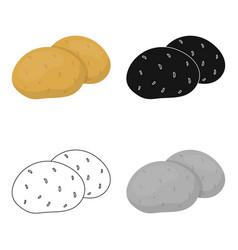 potato icon cartoon singe vegetables icon from vector image