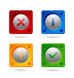 Notification icons vector