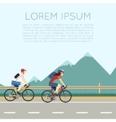 Bicycle trip banner vector