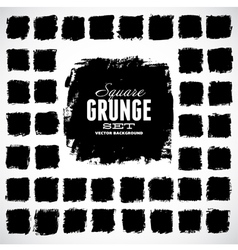 Set of grunge squares vector