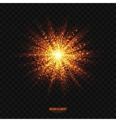Glowing golden particles explosion effect vector
