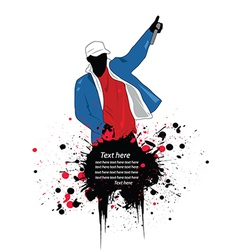 Artistic rapper vector