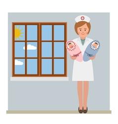 Baby nurse vector image vector image