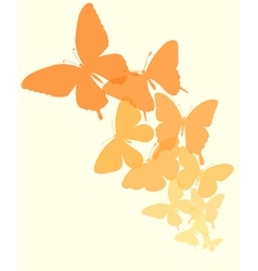 background with a border of butterflies flying vector image