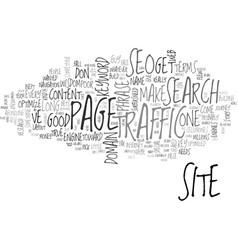 Basic seo wisdom text word cloud concept vector