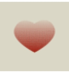 Brown heart painted with dots vector image vector image