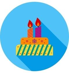 Cake birthday vector