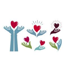 charity health logo medicine hospital life vector image