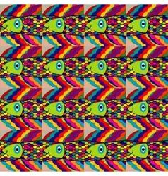 Colorful fantasy fish vector