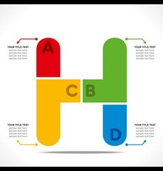Creative alphabet h info-graphics design concept v vector