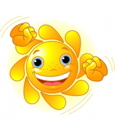 cute dancing sun vector image