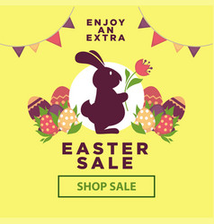 Easter sale poster for online shopping delivery or vector