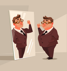 fat man office worker character vector image vector image