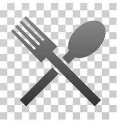Fork and spoon gradient icon vector