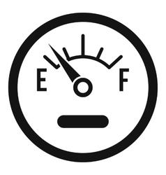 Fuel sensor icon simple style vector
