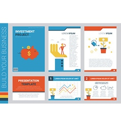 Investment project book cover and presentation vector image vector image