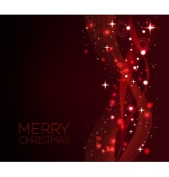 Merry Christmas red greeting card with snowflakes vector image