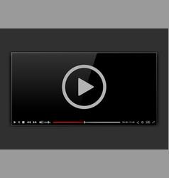 Modern video frame video player interface mokup vector