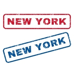 New york rubber stamps vector