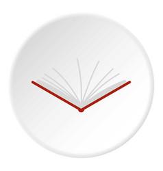 Open tutorial icon circle vector
