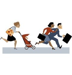 Returning from maternity leave vector