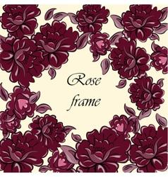 Rose flower vintage frame vector