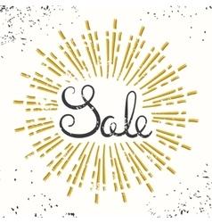 Sale Retro Banner Design Grunge Lettering vector image