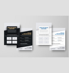 set of black and white flyers with place for vector image vector image