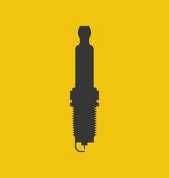 Spark plug silhouette vector
