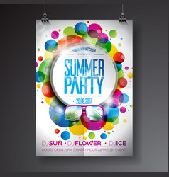 Summer party flyer design vector
