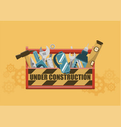 Under construction toolbox vector