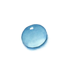 watercolor water drop isolated vector image vector image