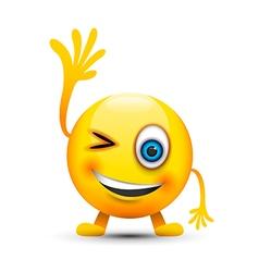 winking emoji character vector image vector image