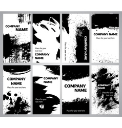 Collection vertical business grunge cards vector image