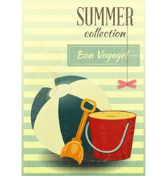Beach toys summer vector