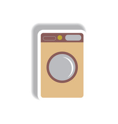 in paper sticker style washing vector image