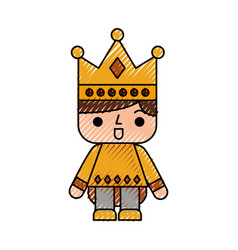 Video game prince avatar vector