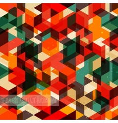 Retro abstract pattern Seamless background vector image