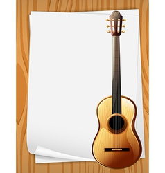 Guitar and paper vector image