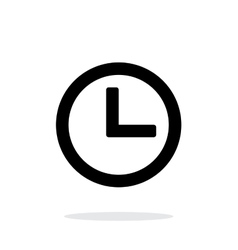 Time and clock icon on white background vector