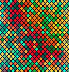 Multicolor mosaic seamless pattern with grunge vector