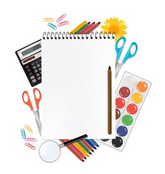 Back to school notepad vector