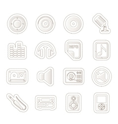 Music and sound icons vector