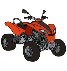 Red all terrain vehicle vector