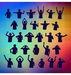 Set silhouettes DJ vector image