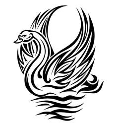 Swan bird vector