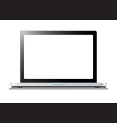 Modern laptop computer vector